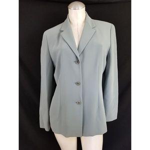 Anne Klein Size 10 Blue Gray Blazer